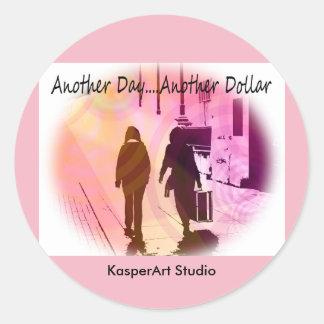 KasperArt Studio Stickers, Round Classic Round Sticker