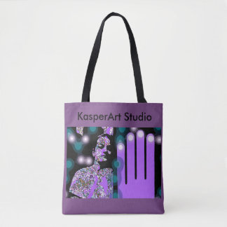 KasperKlothes All-Over-Print Tote Bag, Medium