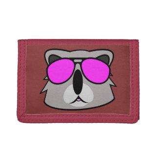 Kasual Koala Red Trifold Wallets