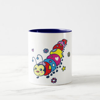 Kat the Caterpillar Two-Tone Coffee Mug