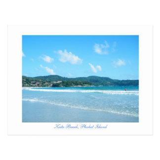 kata, Kata Beach, Phuket Island Postcard