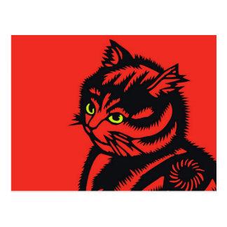 Katagami Cat Postcard