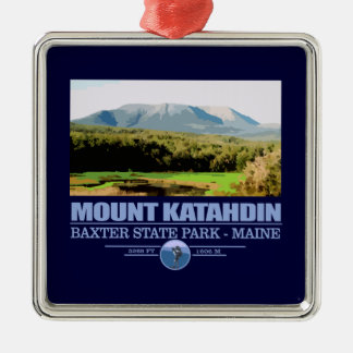 Katahdin Silver-Colored Square Ornament