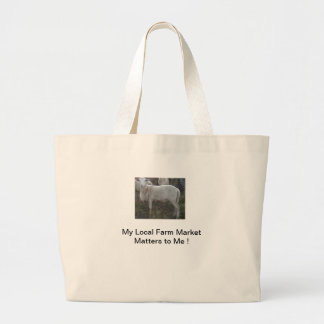 Katahin Hair Sheep Large Tote Bag
