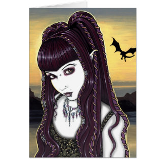 Katana Gothic Dragon Goddess Card
