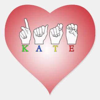 KATE ASL FINGERSPELLED HEART STICKER