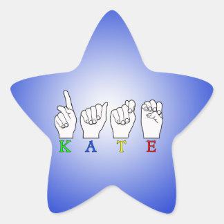 KATE ASL FINGERSPELLED STAR STICKER