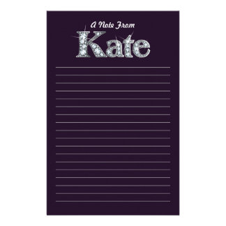 "Kate ""Diamond Bling""  Black Stationery"
