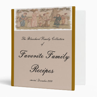 Kate Greenaway Recipe Cover w/Matching Pages Vinyl Binders