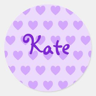 Kate in Purple Round Sticker