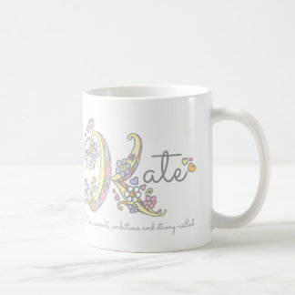 Kate letter K name meaning monogram mug