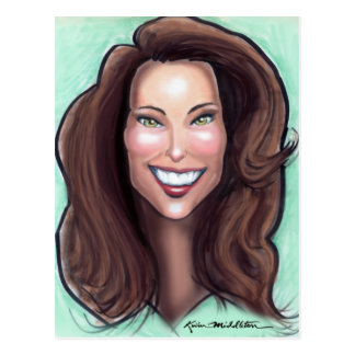 Kate Middleton Caricature Postcard