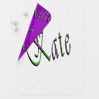 Kate, Name, Logo, Reversible Baby Blanket. Baby Blanket
