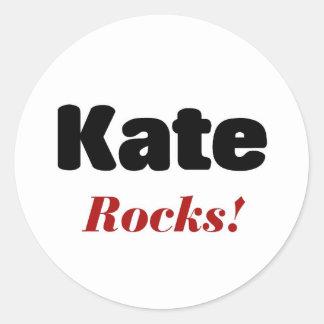 Kate rocks round sticker