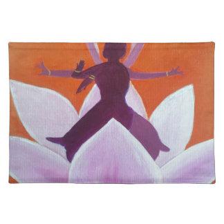 Kathak Dancers in Lotus Flower Placemat