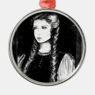 Katharina Siegel (Dracula's Lover) Silver-Colored Round Ornament
