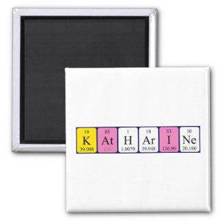 Katharine periodic table name magnet