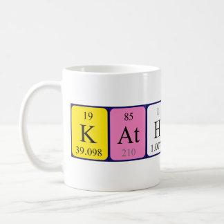 Katharine periodic table name mug