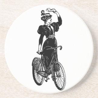 Katherine, a Vintage Cyclist Coaster