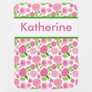Katherine's Personalized Rose Blanket