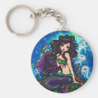 """Kathleen"" Mermaid and Jellyfish Keychain"