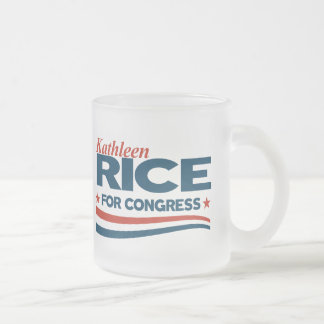 Kathleen Rice Frosted Glass Coffee Mug