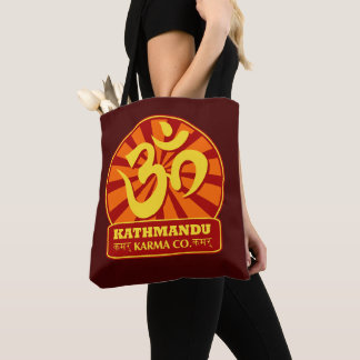 Kathmandu Karma Co. Vintage Buddhist Tote Bag