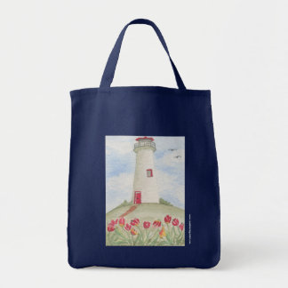 Kathy Faggella Lighthouse Roses Tote Bag