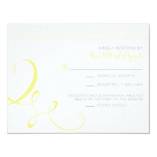 "Katie C Response 4.25"" X 5.5"" Invitation Card"