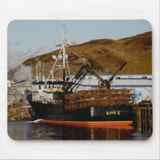 Katie K, Crab Boat in Dutch Harbor, Alaska Mouse Pad