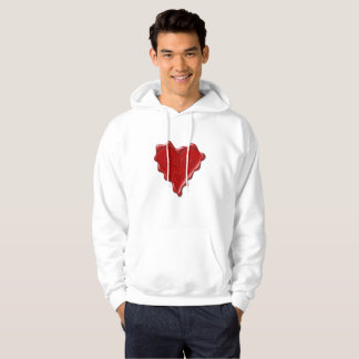 Katie. Red heart wax seal with name Katie Hoodie