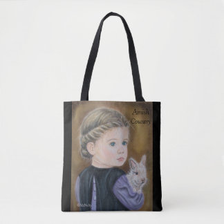 Katie With A Bunny Amish Themed Tote Bag