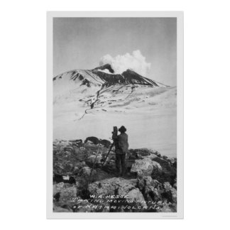 Katmai Volcano Alaska 1913 Poster