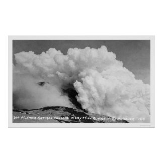 Katmai Volcano Eruption 1912 Poster
