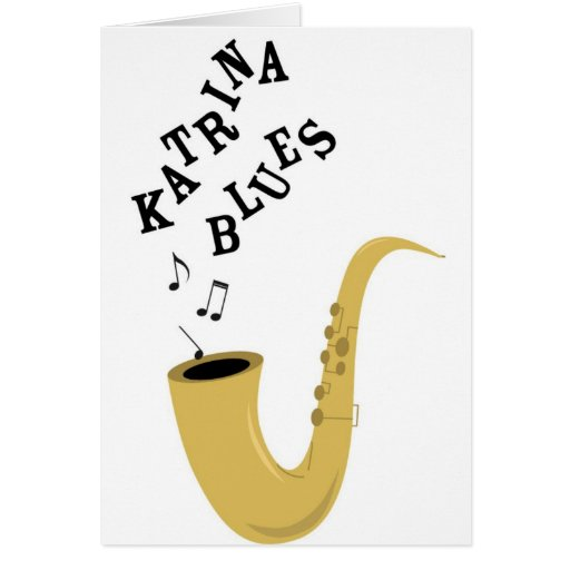 Katrina Blues Greeting Card
