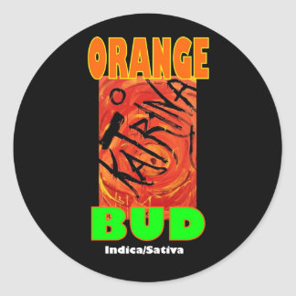 KATRINA ORANGE BUD CLASSIC ROUND STICKER