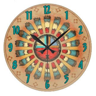 Katsina Feathered Sun Face Clock