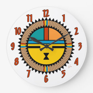 Katsina (Kachina) Sun Face Large Clock