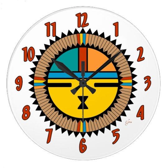 Katsina (Kachina) Sun Face Wall Clock