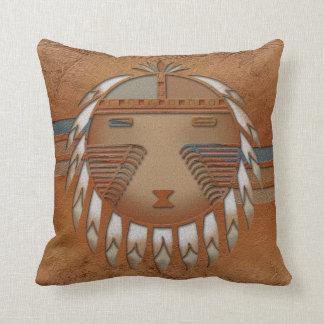Katsina (Kachina) Sunface Throw Pillow
