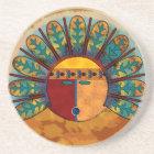 Katsina Sun Face Coaster
