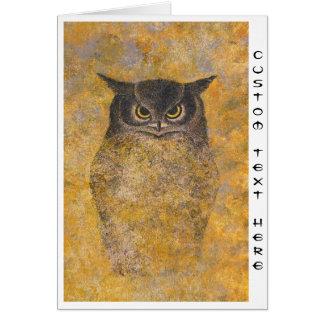 Katsuda Yukio Owl japanese oriental fine art Card