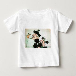 Katsushika Hokusai (葛飾北斎) - Hibiscus and Sparrow Baby T-Shirt