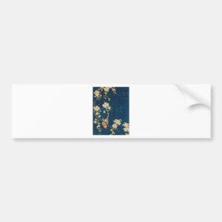 Katsushika Hokusai 葛飾 北斎 Goldfinch and Cherry Tree Bumper Sticker