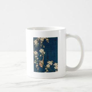 Katsushika Hokusai 葛飾 北斎 Goldfinch and Cherry Tree Coffee Mug