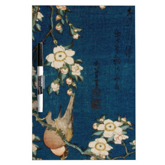 Katsushika Hokusai 葛飾 北斎 Goldfinch and Cherry Tree Dry-Erase Board