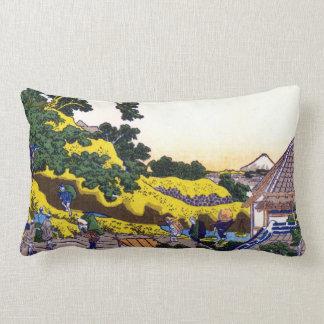 Katsushika Hokusai Surugadai in Edo Lumbar Pillow
