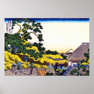 Katsushika Hokusai Surugadai in Edo Poster