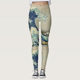 Katsushika Hokusai The Great Wave Leggings