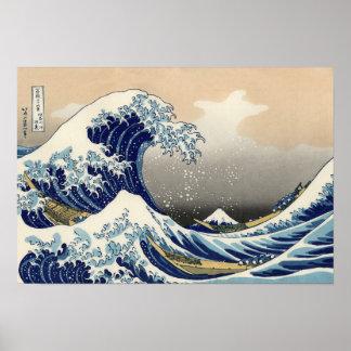 KATSUSHIKA HOKUSAI THE GREAT WAVE OF KANAGAWA POSTER